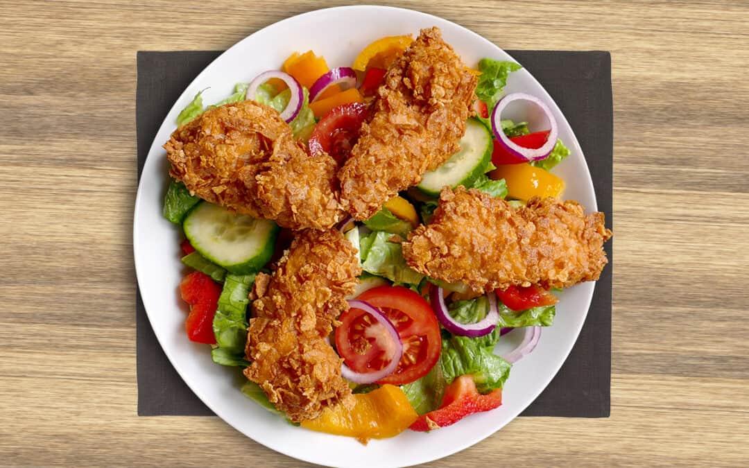 Chicken strips salát