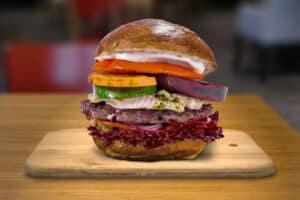 Goat burger
