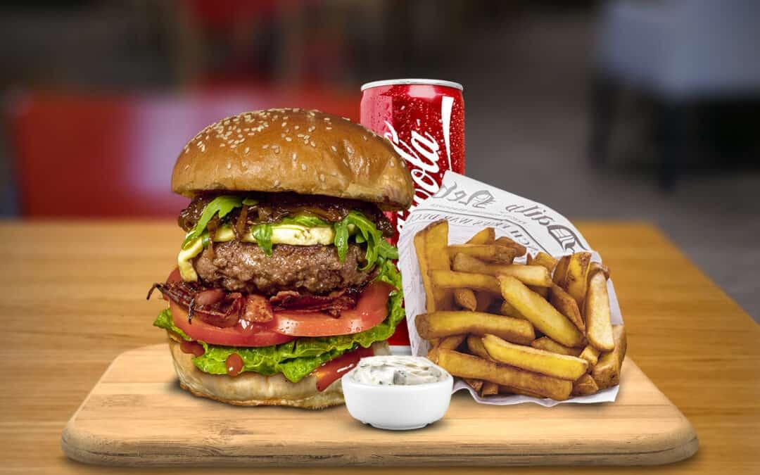 Large burger menu